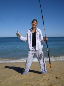 My first ocean beach fishing, and my first Indian Ocean experience!