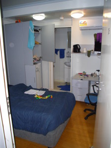 "A rough idea of a ""camp room.""  Ironically, I don't have a photo of the (smallest, least-flash) one I stayed in the longest."