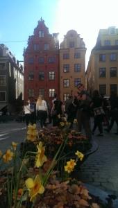 plaza stockholm sweden spring flowers