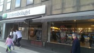 sysetmbolaget liquor store front in stockholm sweden