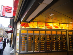 febo amsterdam netherlands fast food vending wall
