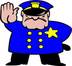 cartoon police officer stop