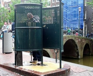 urinal in amsterdam green