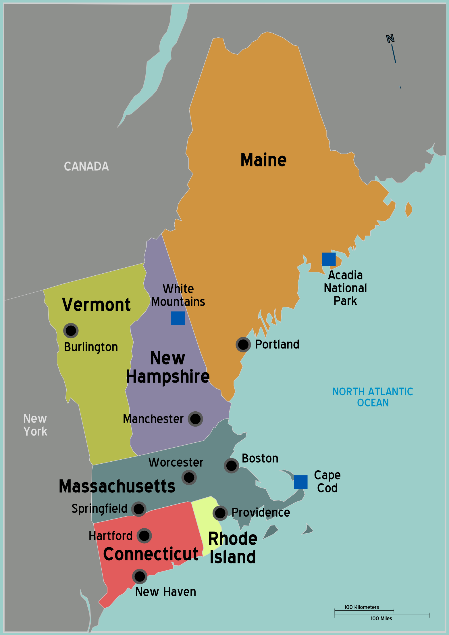 the six states that make up the new england cultural region