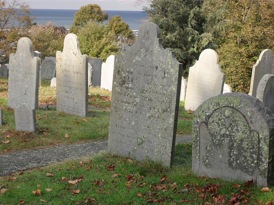 new england graveyards full of picturesque headstones or gravestones