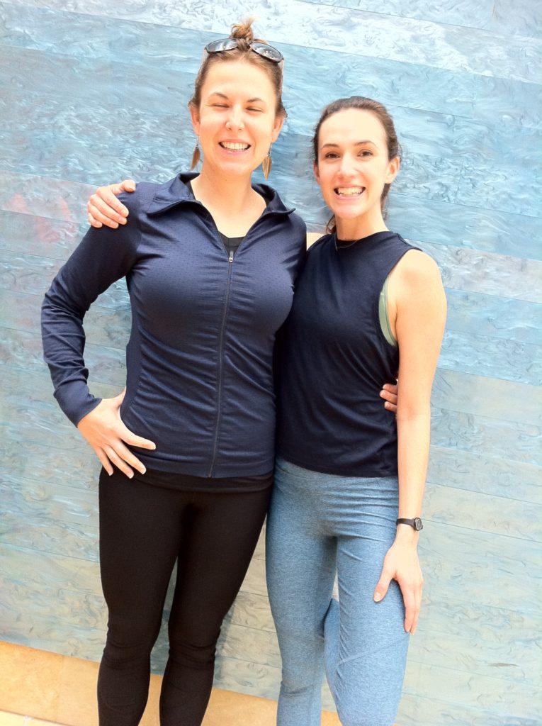 Top slow travel blog Half the Clothes' author Jema meets her youtube yoga hero - Adriene Mishler