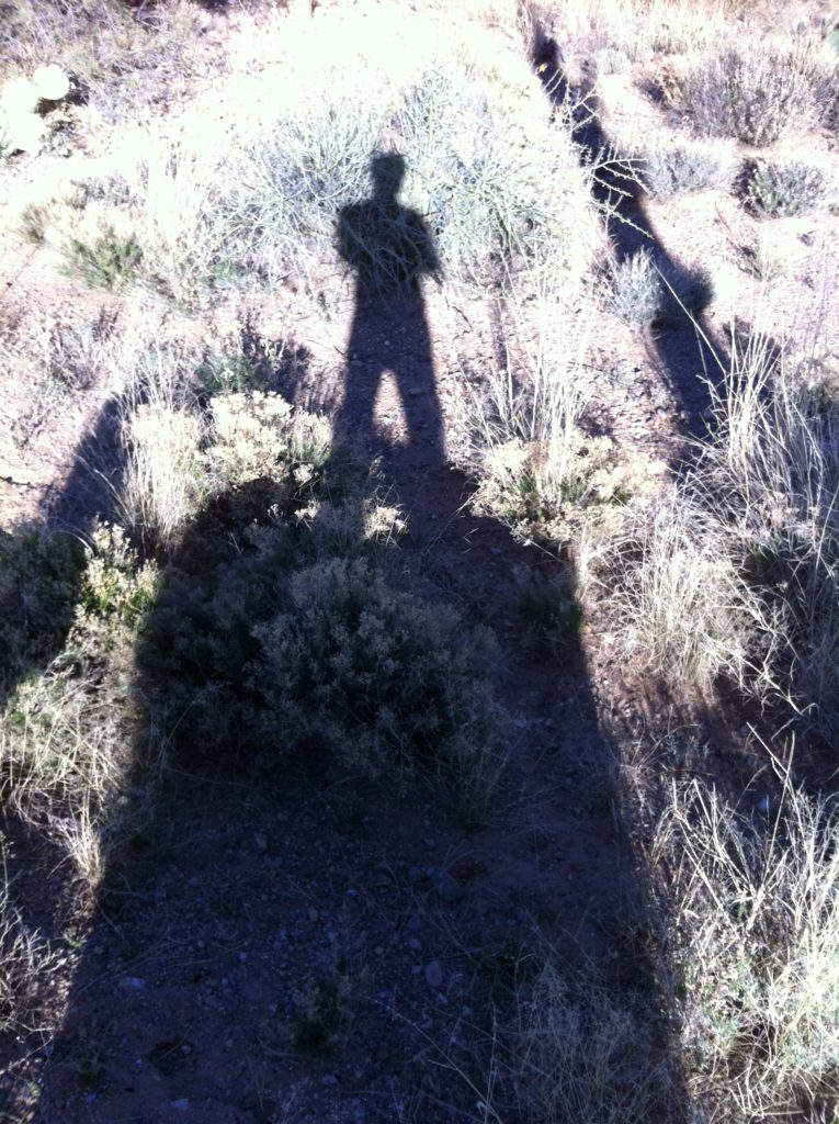 Top slow travel blog Half the Clothes author is a huge weirdo about taking pictures of her shadow.