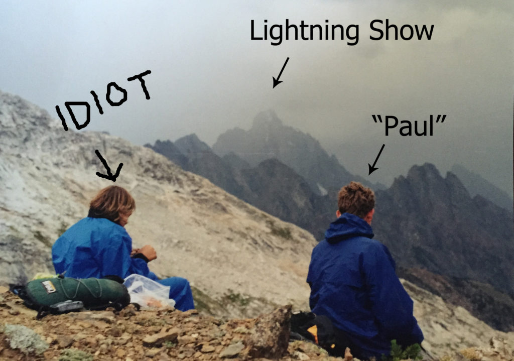 Top slow travel blog half the clothes author sat right there watching lightning strike a nearby peak