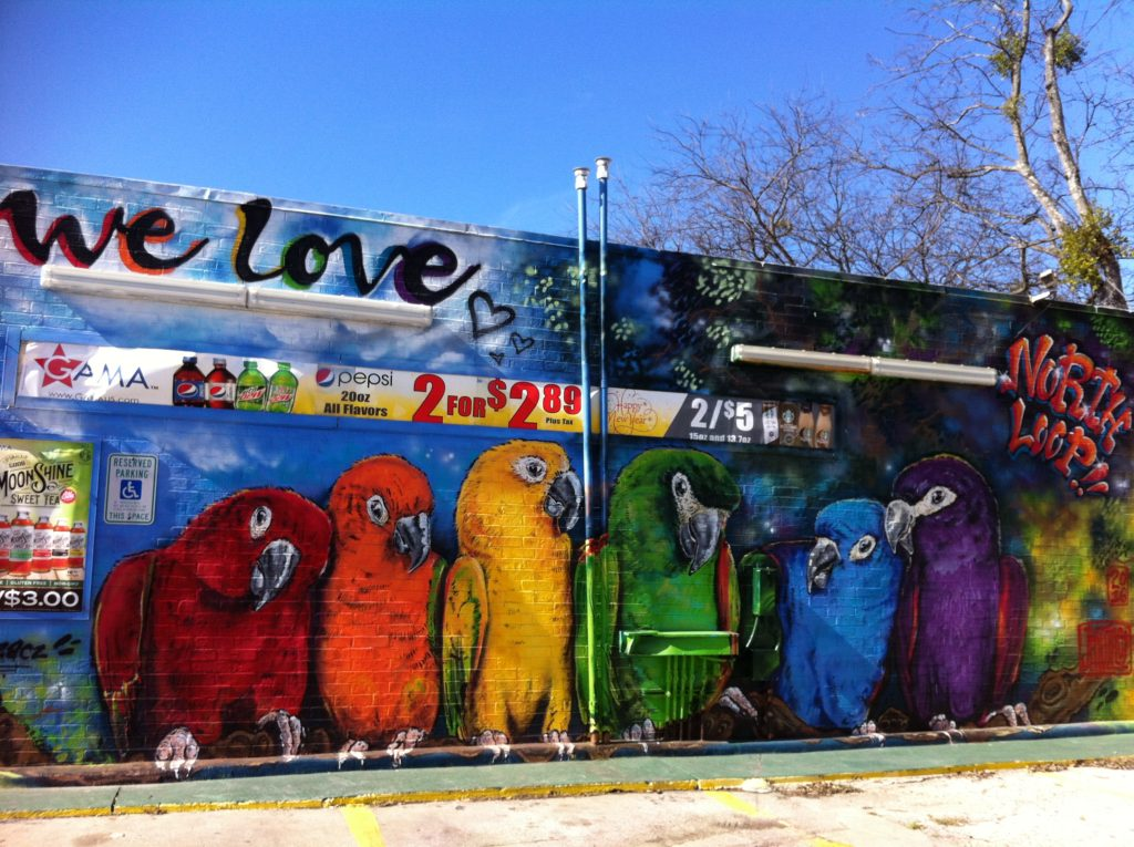 North Loop Mural in Austin Texas - photo by top slow travel blog Half the Clothes