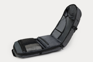 Minnal carry completely unzipped from the bottom with internal pockets