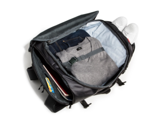 Un-zipped Wander pack Timbuk2 40 liter backpack with shoe compartment