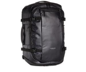 Black water resistant Timbuk2 40 liter travel backpack
