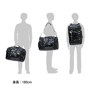Patagonia Black Hole MLC in all three positions, on back, over the shoulder like a duffle and converted into a suitcase
