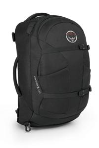 Mens Osprey Far Point 40 liter backpack in black