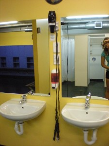 gym bathroom in Wanaka that I used while I was living in a hippie van