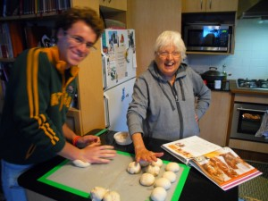 Pierrick and Gabrielle - we made German pretzels with the Thermo-mix and they were incredible!