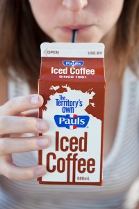 Cafeteria milk, right?  Half and half?   Nope - iced coffee!