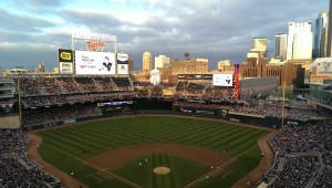 minnesota twins stadium from high above home plate