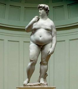 fat italian statue