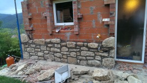 stone facade spain catalonia woofing helpx