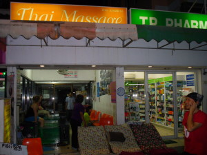 storefront of the best massage in the khao san area