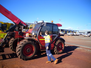 A telehandler I drove while on my Australia Working Holiday Visa