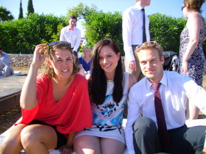 Jema Patterson - Gemma Patterson Jemma Patterson Half the Clothes author with friends at a wedding in Portugal