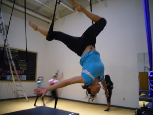 woman on trapeze