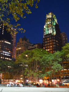 bryant park new your city gothic building park by new york library