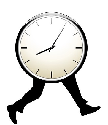 clock on legs like a time optimist feels going anywhere