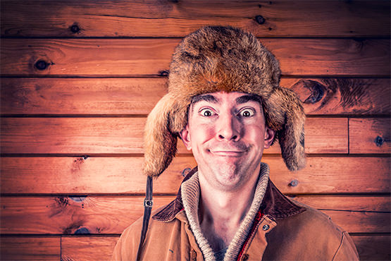 Budget travel blog writer Jema Patterson thinks this guy in a hat with earflaps and a funny look on his face has been to canada