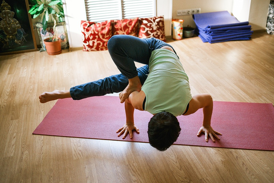 if you can do this yoga pose you can get one of the jobs for travelers - yoga instructor!
