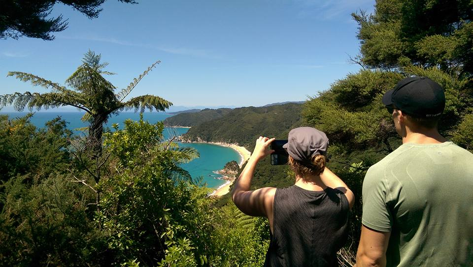 abel tasman hikers after doing work in australia on an australian working holiday visa