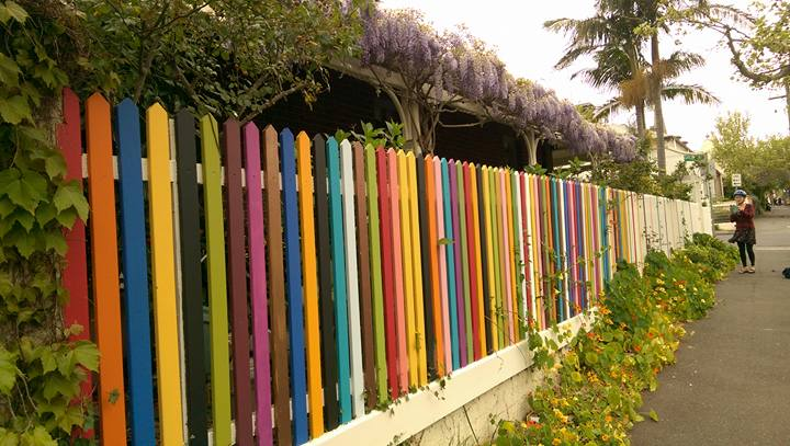 you could pass this colorful fence on a bike ride, too, if you go working in australia