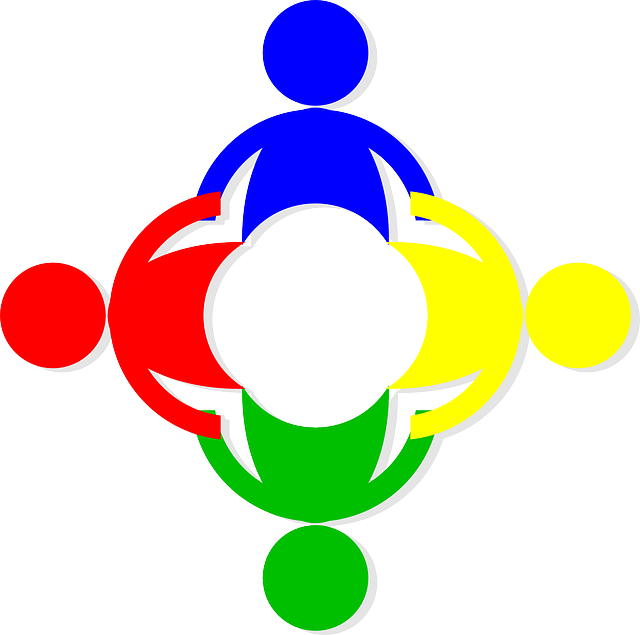 colorful clip art silhouettes holding hands in a circle to show budget travel blog half the clothes connection on the web