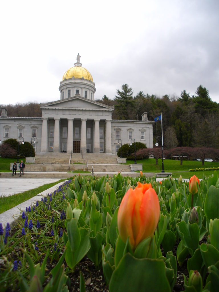 vermont state capitol building in montpelier as seen by budget travel blog half the clothes' writer Jema Patterson