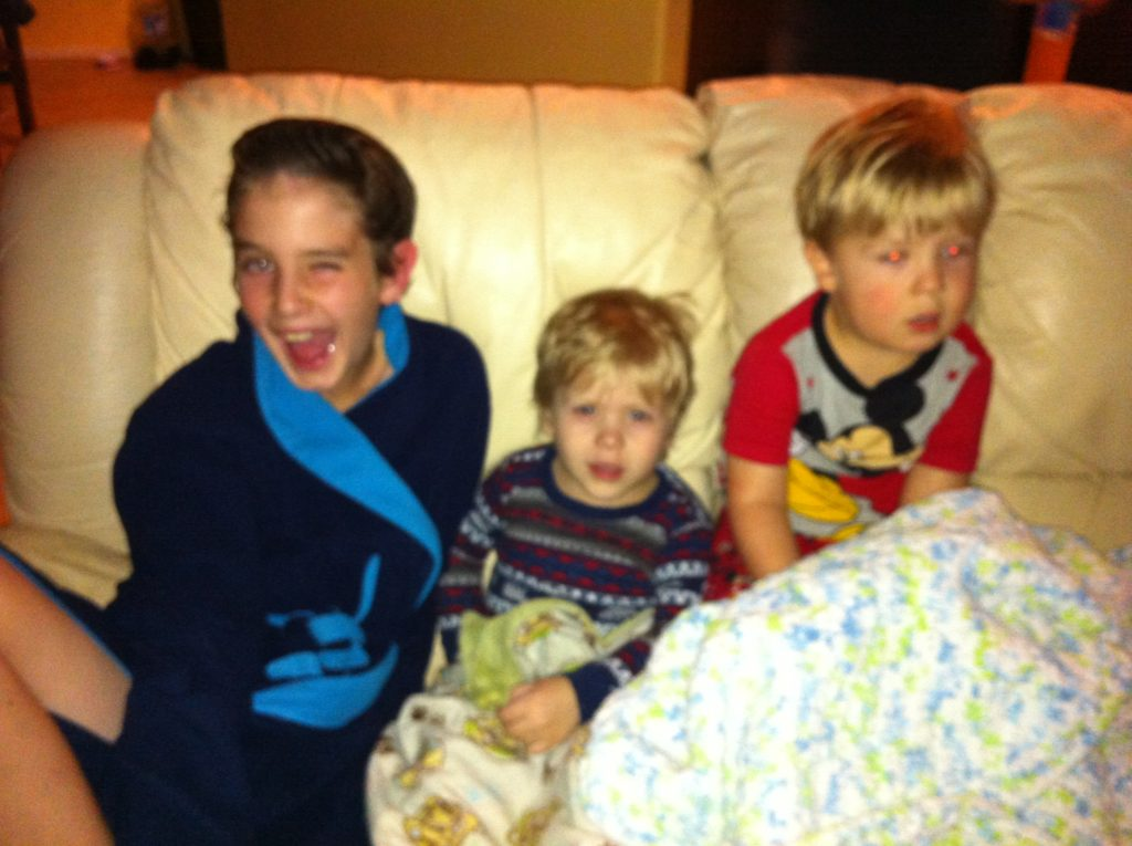 My sister's friends and their son visited for her birthday, so the cuteness factor in the house nearly doubled. I couldn't resist a snap of these boys and their bedtime wind-down.