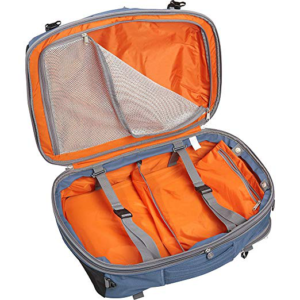 Un-zipped Tls mother load with orange interior showing its 54 liter size