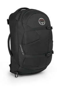 Mens Osprey Far Point 40 liter backpack in black