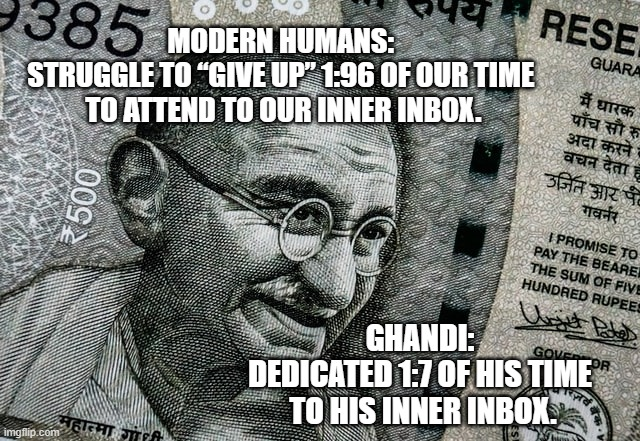 gandhi meme demonstrates why employees need time off for achieving work life balance