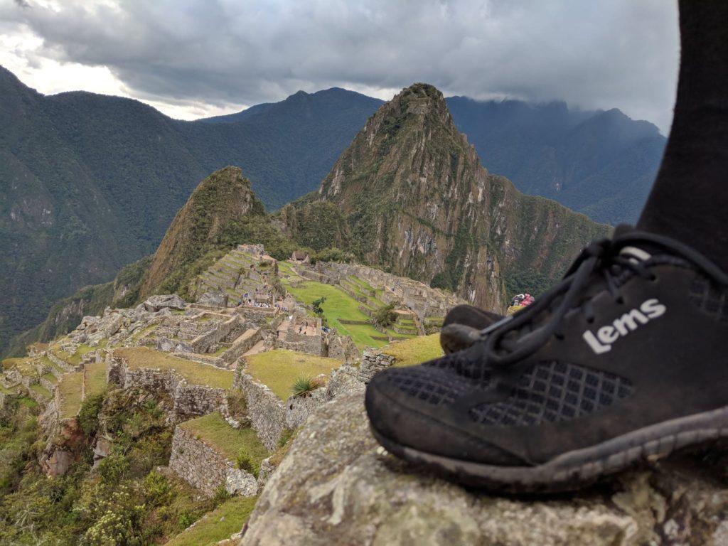 lems primal 2 best barefoot running shoes at machu picchu